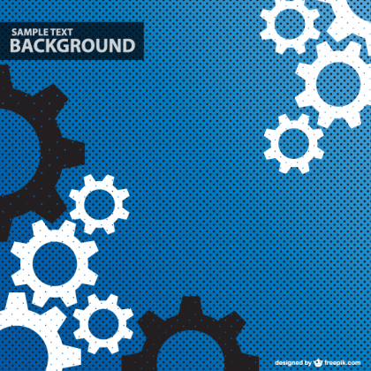 Abstract Gear Wheels Background Vector Design