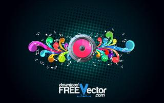Vector Music Background Illustration