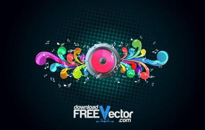 Vector Music Background Illustration