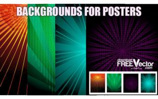 Radial Background for Party Poster, Clip Art