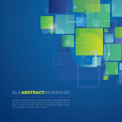 Blue Abstract Modern Geometric Square Background