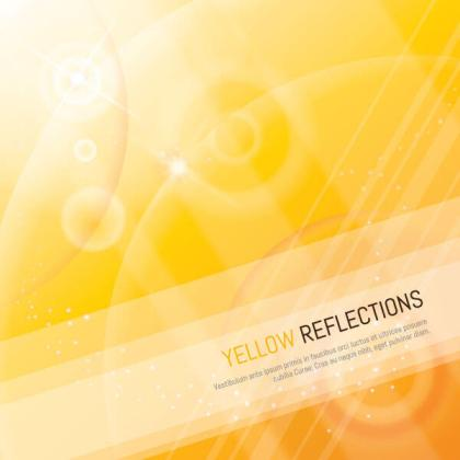 Yellow Sparkle Reflection Background Vector