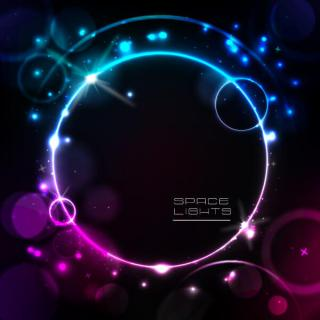 Glowing Space Light Circle Vector Background