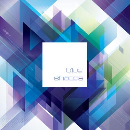 Abstract Blue Diagonal Vector Background Image