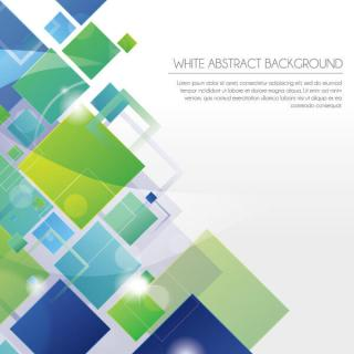 White Abstract  Geometric Square Background Design