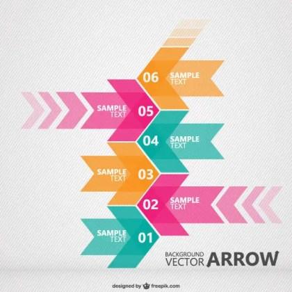 Retro Arrows Background Presentation Template