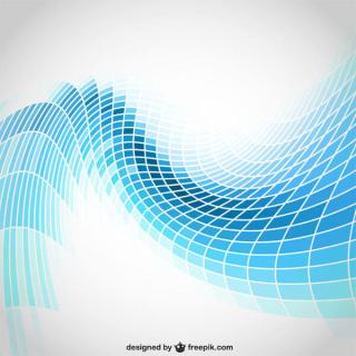 Abstract Wavy Blue Tiles Background Vector