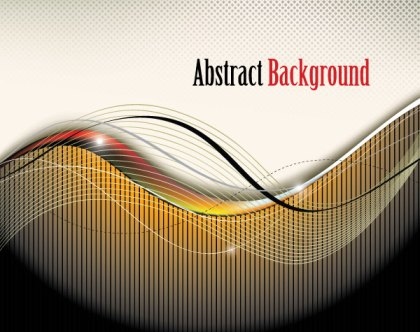 Abstract Modern Wavy Background Free Vector