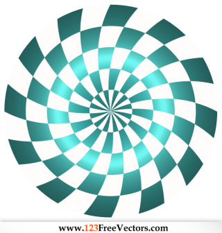 Abstract Optical Illusion Vector Free