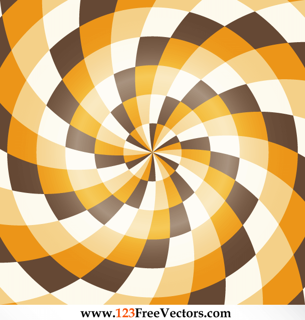 Free Colorful Optical Illusion Background Vector Art