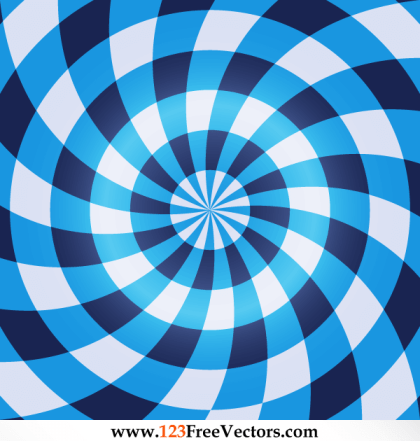 Free Vector Optical Illusion Blue Background