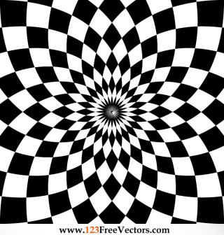 Optical Illusion Vector Clip Art