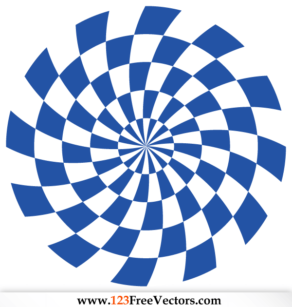 Free Optical Illusion Vector Blue Graphics
