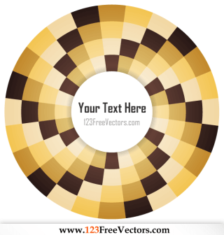 Optical Illusions Background Vector for Your Text