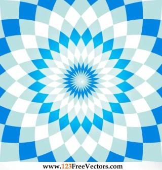 Colorful Flower Optical Illusion Background Illustration