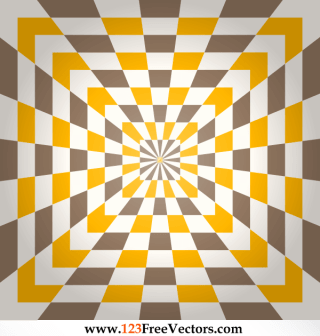 Optical Illusion Abstract Checkered Background Vector