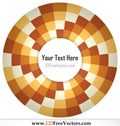 Optical Illusion Abstract Vector Art for Your Text