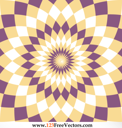 Abstract Optical Illusion Flower Backdrop Vector