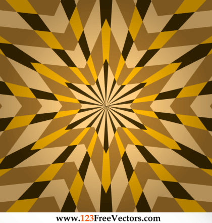 Optical Illusion Star Background Vector Graphics