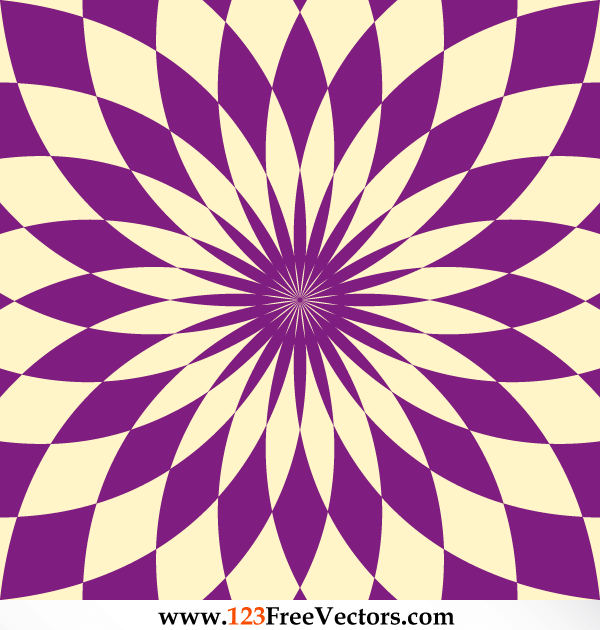 Abstract Flower Optical Illusion Image