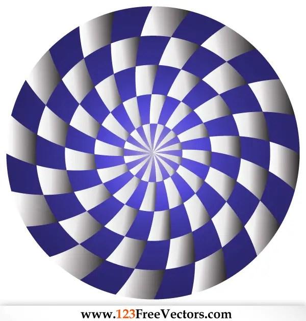 Spiral Optical Illusion Vector Illustrator