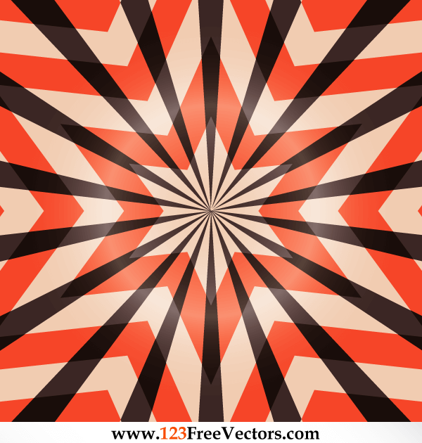 Abstract Star Optical Illusions Vector Free Download