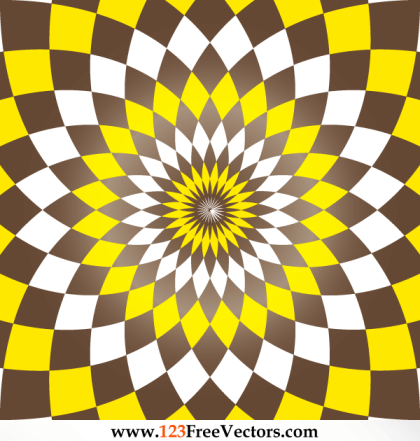 Flower Optical Illusion Abstract Graphics