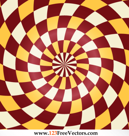 Abstract Spiral Optical Illusion Vector Free