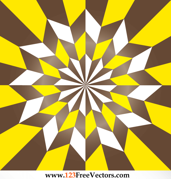 Free Vector Star Optical Illusion Vintage Style