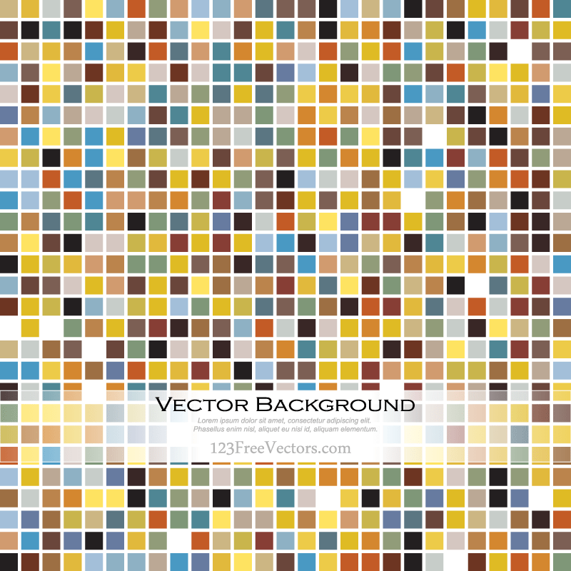 Mosaic Tile Background Vector
