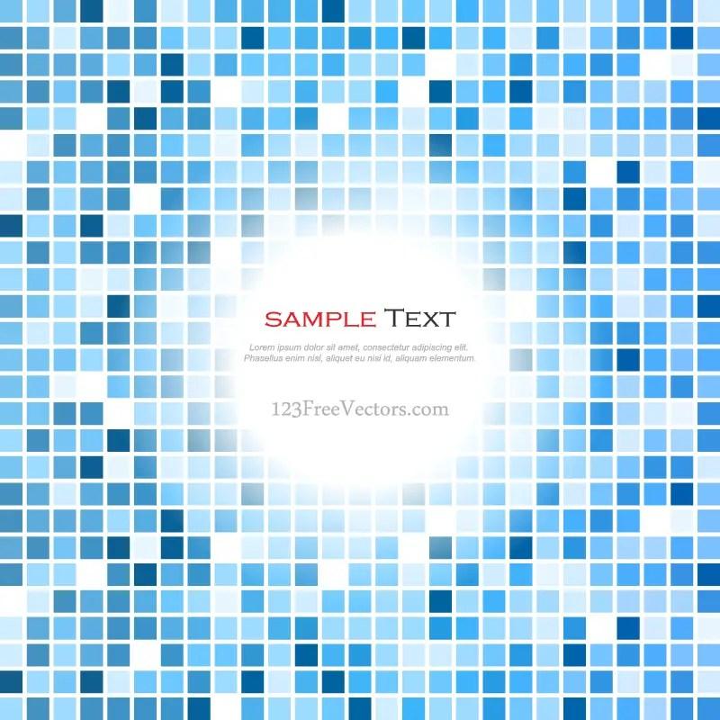 Blue Tiles Background Vector
