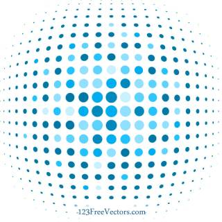Blue Dot Background Illustrator