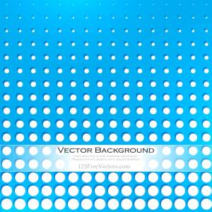Abstract Blue Dots Background Vector