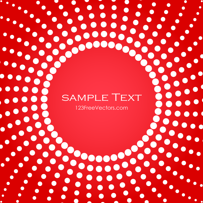 Halftone Background Template