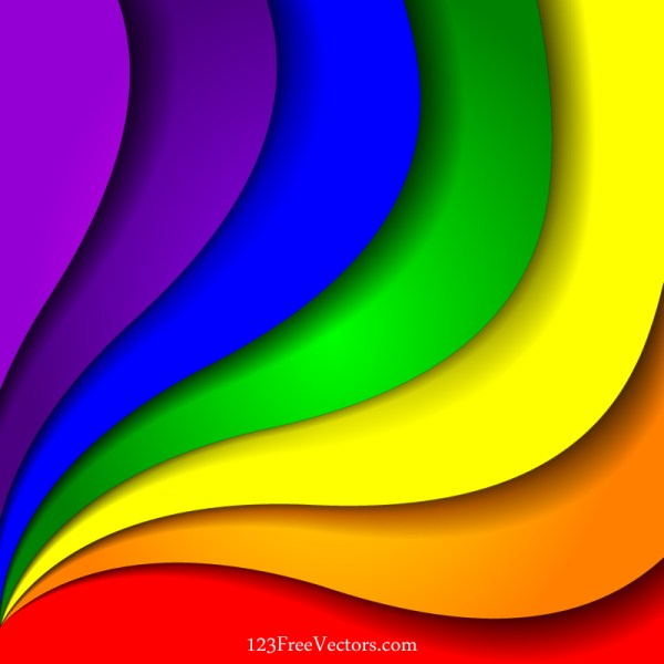 Colorful Rainbow Background Vector Illustration