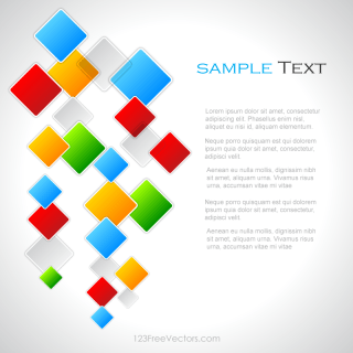 Colorful Square Background Vector Design