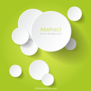 Overlapping Circles Vector Abstract Background