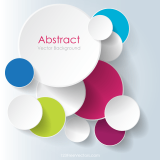 Colorful Overlapping Circles Background Design