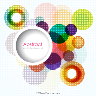 Free Circle Background Template Vector