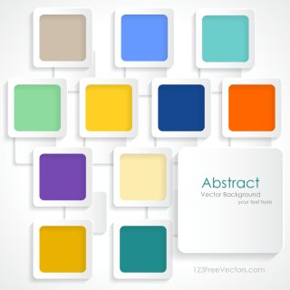 Colorful Rounded Squares Background Vector