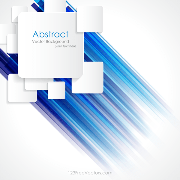 Abstract Blue Lines Colorful Background with Square Design
