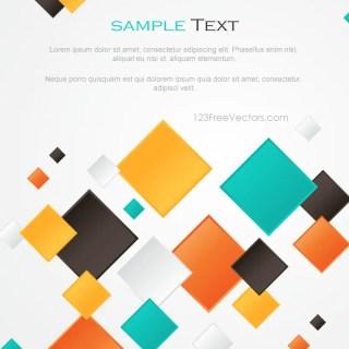 Multicolor Abstract Square Background Design