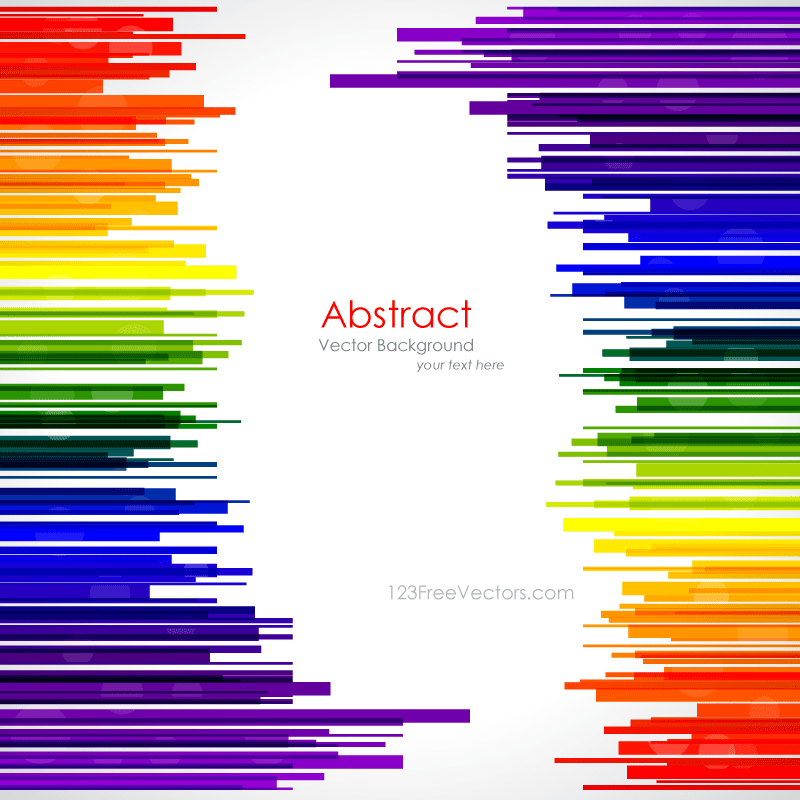 Abstract Rainbow Stripes Background Template