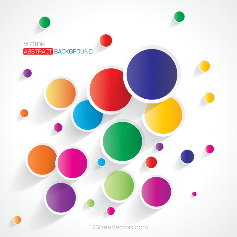 Abstract Colorful Circle Background Wallpaper