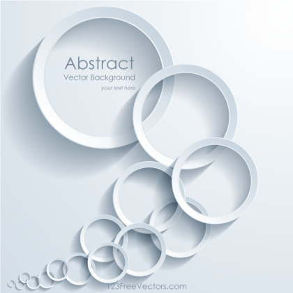 Abstract Overlapping Circles Background Illustrator
