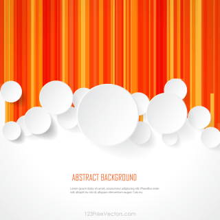 White Paper Circles on Geometric Lines Background Template