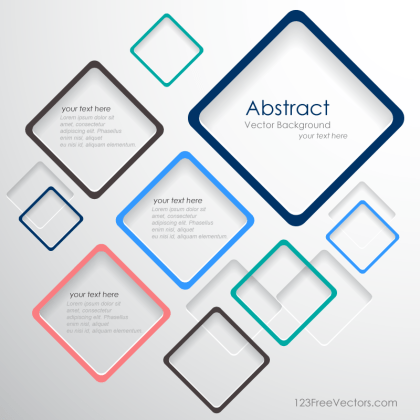 Vector Abstract Squares Background Template