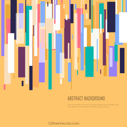 Colorful Geometric Rectangle Background Vector