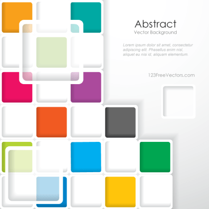 Modern Abstract Colorful Squares Background Template Illustrator