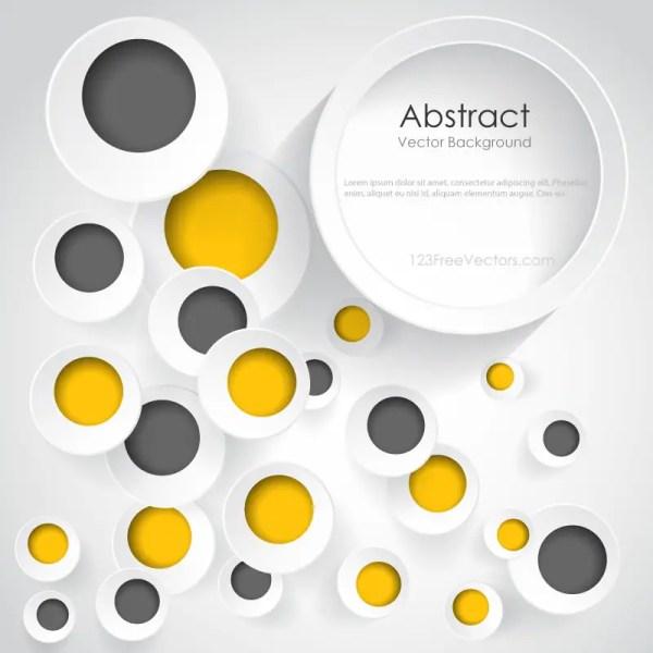 Colorful Geometric Circle Modern Design Template Eps